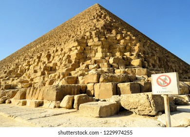The Great Pyramid of Giza at Giza Pyramid Complex in Cairo, Egypt