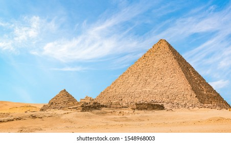 Great Pyramid of Menkaur in the desert of Giza, Egypt