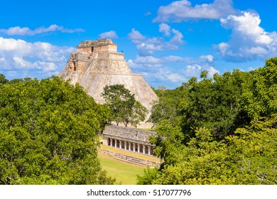 Great Pyramid, Uxmal, an ancient Maya city of the classical period. One of the most important archaeological sites of Maya culture. UNESCO World Heritage site