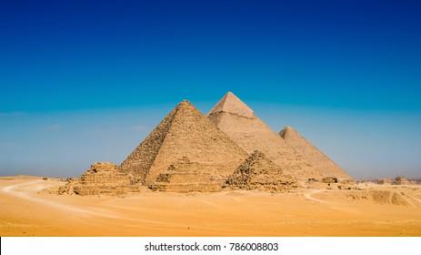 Great Pyramids in Giza, Egypt