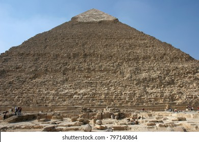 The Great Pyramids in Giza pyramid complex, Egypt. One of Seven Wonders of the World.