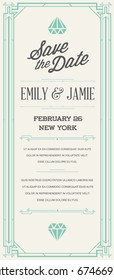 Great Quality Style Invitation in Art Deco or Nouveau Epoch 1920's Gangster Era Raster
