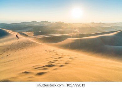 Great sand dune national park at sunset,Colorado,usa.