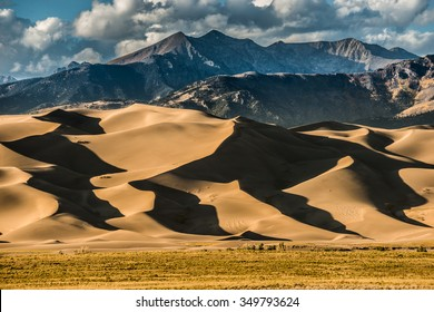 Great Sand Dunes National Park Colorado at Sunset