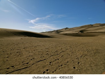 Great sand dunes national park in Colorado.