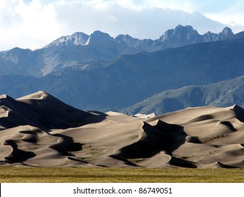 Great Sand Dunes National Park in southeastern Colorado