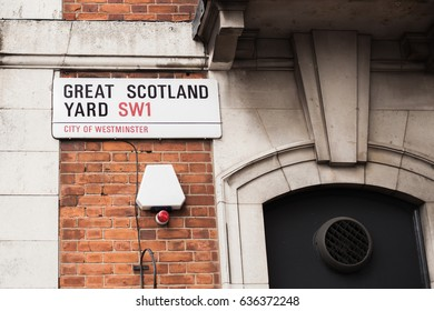 Great Scotland Yard is a street best known as the location of the rear entrance to the headquarters of the Metropolitan Police Service of London. London is the mos populos city in the UK