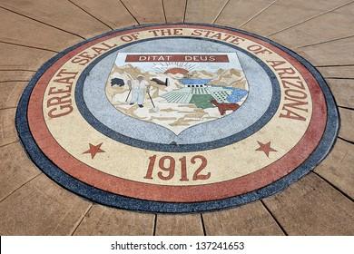 Great Seal of the State of Arizona 1912 at Arizona State Capitol, Phoenix
