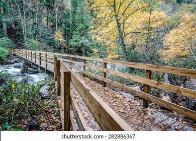 Great Smoky Mountains National Park - Bridge to Chimney Tops Trail  - Gatlinburg Pigeon Forge TN