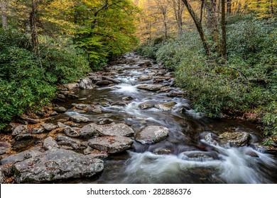 Great Smoky Mountains National Park - Alum Cave Creek - vacation getaway destination - Gatlinburg Pigeon Forge TN NC
