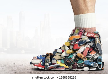 Great sneaker made up of different sneakers
