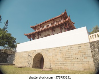 """The Great South Gate is a historical gate in West Central District, Tainan City, Taiwan. It shows """" The Great South Gate"""" in traditional Chinese characters on the wall."""
