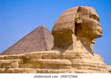 Great Sphinx of Giza in Egypt, Africa