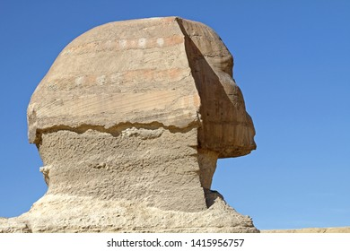 The Great Sphinx of Giza Egypt Profile Close up
