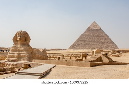 Great Sphinx of Giza and Pyramid