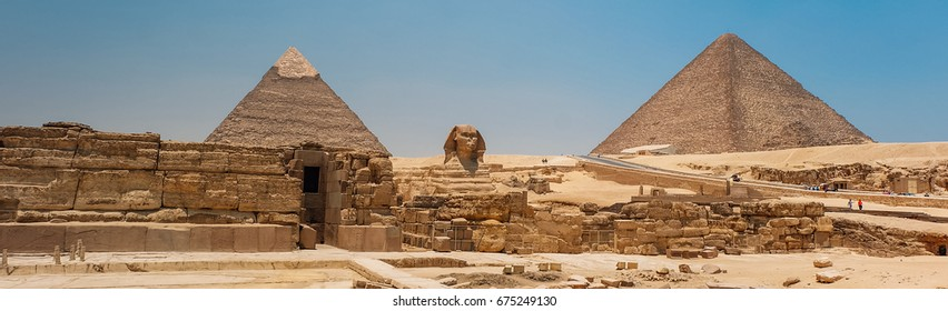 Great Sphinx at pyramids of Giza, Cairo Egypt.