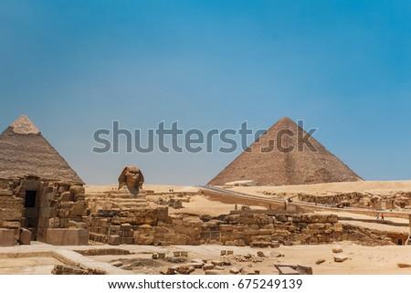 great sphinx pyramids giza cairo egypt stock photo edit now