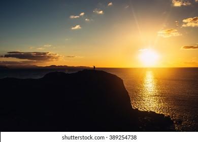 Great sunset. Great light. Ocean