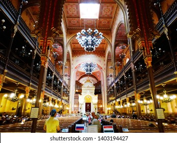 The Great Synagogue, Dohany Street Synagogue, in Budapest in Hungary, it is the largest Judaism Temple in Europe, and a center of Neolog Judaism. 2017-6