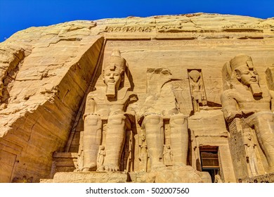 The Great Temple at Abu Simbel, right part, Egypt.