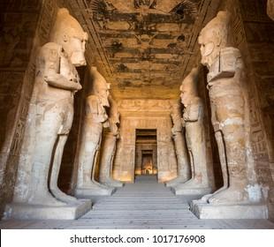 Great Temple interior, Abu Simbel, Egypt