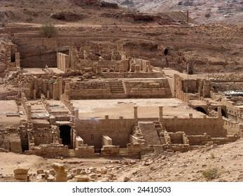 Great temple in Petra, Jordan