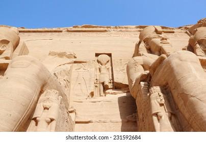 The Great Temple of Ramesses II. Abu Simbel, Nubia, Egypt.