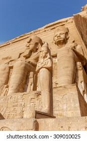 The Great Temple of Ramses II. Abu Simbel, Nubia, Egypt