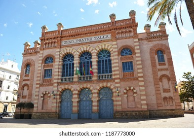 Great Theater Falla (Gran Teatro Falla) where is celebrated every year the performances of the famous Carnival of Cádiz, Andalucía, Spain