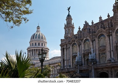 Great Theatre of Havana and El Capitolio, Cuba