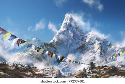 Great things are done when men and mountains meet; This is not done by jostling in the street. The Himalayas, or Himalaya form a mountain range in Asia separating the plains of the Indian subcontinent