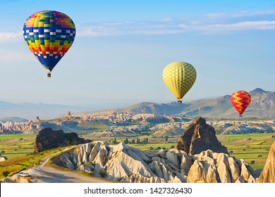 The great tourist attraction is the Cappadocia balloon flight. Cappadocia is known around the world as one of the best places to fly with hot air balloons. Goreme, Cappadocia, Turkey