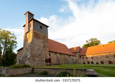 The great tower of the monastery in the town of Ilsenburg