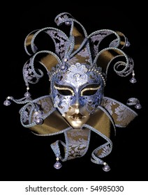 Great traditional venetian mask on black background