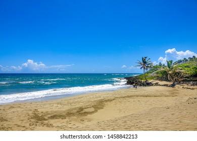 Great tropical beach in the Caribbean