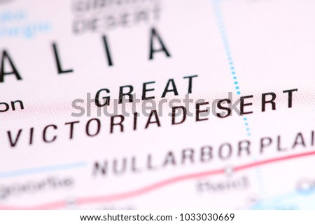 Map Of Australia Great Victoria Desert.Great Victoria Desert Australia On Map Stock Photo Edit Now