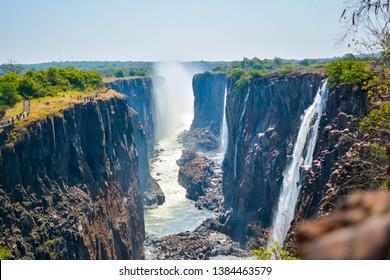 great Victoria falls in Zambia