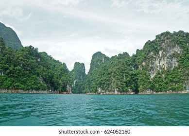 A Great View Of Big Island In Ratchaprapha Dam, Thailand