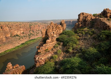 Great view of canyon in Gandikota at sunset