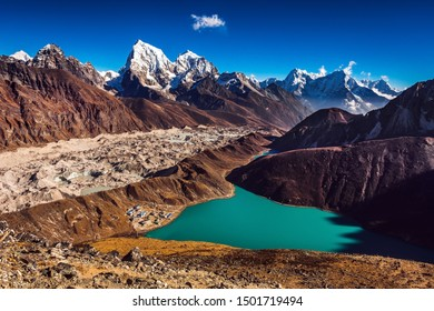 Great view to Himaylas in Nepal, Gokyo Ri