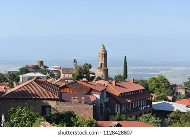 A great view over the Georgian city of Signagi.