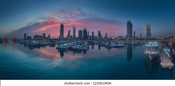 Great view of sunset in Kuwait City
