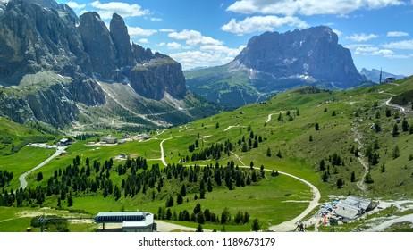 Great view of the top Cadini di Misurina range in National Park Tre Cime di Lavaredo. Dolomites, South Tyrol. Location Auronzo, Italy, Europe. Dramatic unusual scene. Beauty world