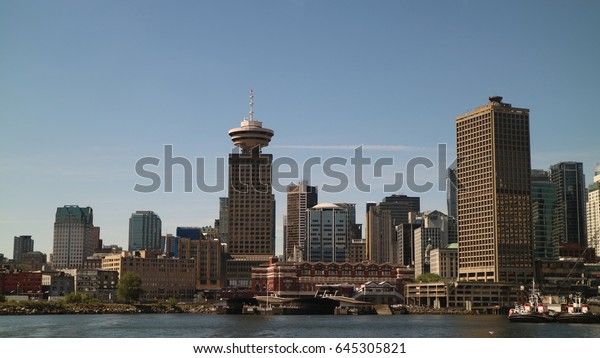 Great views of the city of Vancouver and Burrard Inlet from North Vancouver