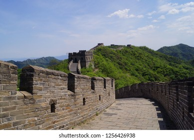great wall of China against the sky