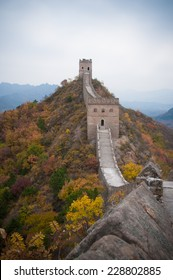 Great wall of China in the autumn