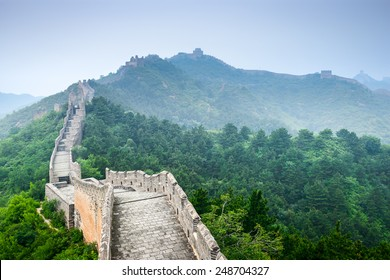 Great Wall of China at Jinshanling sections.