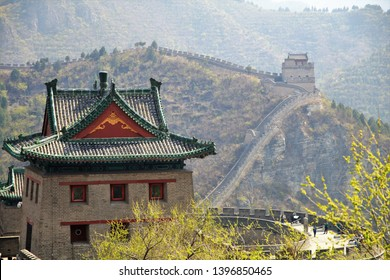 Great Wall of China at the Juyong Pass (Juyongguan). The present pass route was built in the Ming Dynasty.