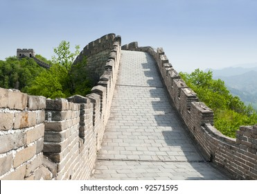 Great Wall of China near capital Beijing ( Mutianyu section )