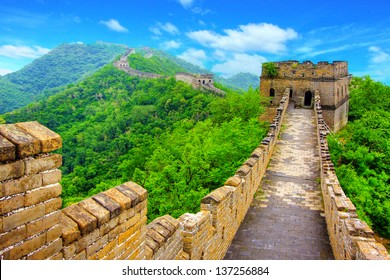 Great Wall of China on a clear day